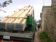 Transporte de materiales de grandes dimensiones y peso