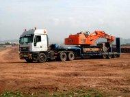 Traslado de maquinaria industrial y de obras