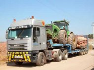 Traslado de tractores, vehículos y maquinaria agrícola